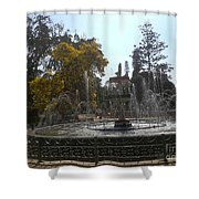 Beautiful Fountain In Lal Bagh Shower Curtain
