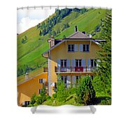 Beautiful House In Mont Blanc Shower Curtain