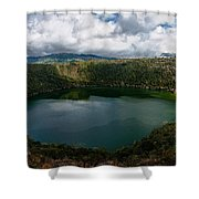 Beautiful Lake Guatavita Shower Curtain