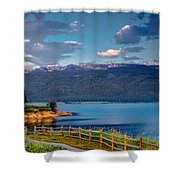 Beautiful Lake View Shower Curtain