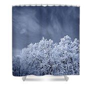 Beautiful Landscape With A Stormy Wind Shower Curtain