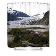 Beautiful Mendenhall Glacier Shower Curtain