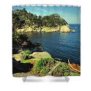Beautiful Monterey Bay From Point Lobos Shower Curtain