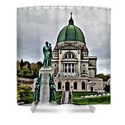 Beautiful Montreal Church Shower Curtain