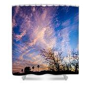 Beautiful Morning Sunrise Clouds Across The Sky Shower Curtain