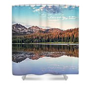 Beautiful Mountain Reflection Shower Curtain by Robert Bales