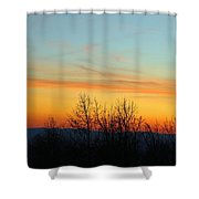 Beautiful Mountain Sunset Shower Curtain