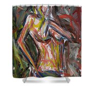 Beautiful Nude Young Woman Shower Curtain