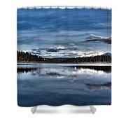 Beautiful Rainy Lake Shower Curtain
