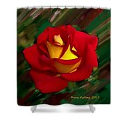 Beautiful Red Rose Shower Curtain