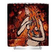Beautiful Redhead Shower Curtain