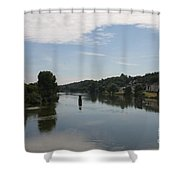 Beautiful River Loire  Shower Curtain