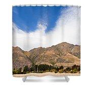 Beautiful Roys Peak Near Wanaka In Southern Alps Of New Zealand Shower Curtain
