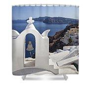 Beautiful Santorini Shower Curtain