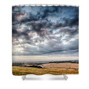 Beautiful Skies Over Farmland Shower Curtain