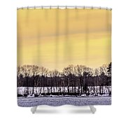 Beautiful Sky Just Before Sunset Shower Curtain