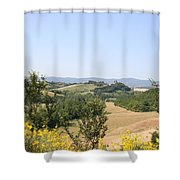 Beautiful Spot - Crete Senesi Shower Curtain