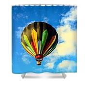 Beautiful Stripped Hot Air Balloon Shower Curtain