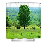 Beautiful Pennsylvania Summer Scene - Colorful Landscape - Painting Like Shower Curtain