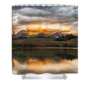 Beautiful Sunrise On Little Redfish Lake Shower Curtain
