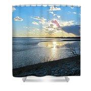 Beautiful Sunset Iowa River Shower Curtain