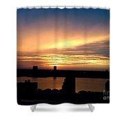 Beautiful New York City Sunset - Upper West Side Shower Curtain