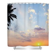 Beautiful Tropical Sunset Shower Curtain