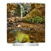 Beautiful View Of Upper Falls Located In Uvas Canyon County Park. Shower Curtain