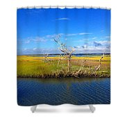 Beautiful View Topsail Island Shower Curtain