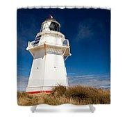 Beautiful Waipapa Point Lighthouse The Catlins Nz Shower Curtain