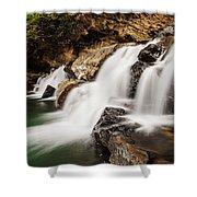 Beautiful Waterfall In Western Ghats Karnataka India Shower Curtain