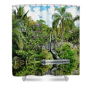 Beautiful Winter Day In Florida  Shower Curtain