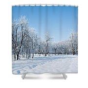 Beautiful Winter Landscape Shower Curtain
