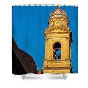 Beautiful Yellow Church Steeple Shower Curtain