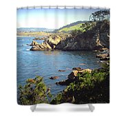 Beautifully Rugged Shoreline At Point Lobos Two Shower Curtain