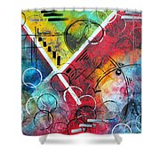 Beauty Amongst The Chaos By Madart Shower Curtain