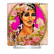 Beauty And Flowers 1 Shower Curtain