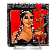 Beauty And Flowers 2 Shower Curtain