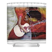 Beauty And Her Guitar Shower Curtain