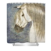 Beauty And Strength With Verse Shower Curtain