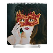 Beauty And The Mask Shower Curtain