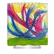 Beauty Gives Joy Shower Curtain by Kelly K H B