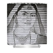 A Beautiful Woman Shower Curtain