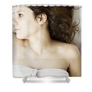 Beauty In White Shower Curtain by Margie Hurwich