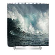 Beauty Of Surfing Jaws Maui 7 Shower Curtain
