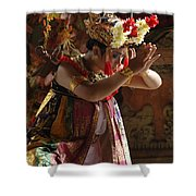 Beauty Of The Barong Dance 4 Shower Curtain
