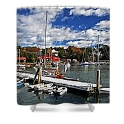 Beauty Of The Harbor Shower Curtain