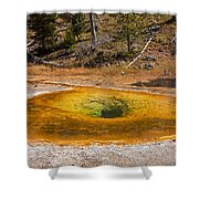 Beauty Pool In Upper Geyser Basin In Yellowstone National Park Shower Curtain