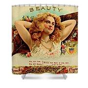 Beauty Vintage Cigar Advertisement  Shower Curtain