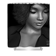 Beauty Was Her Name Bw Shower Curtain